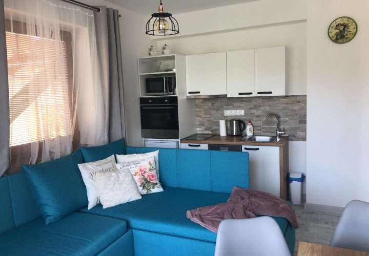 Apartman Beach - Kuchyna a obyvacia cast / Kitchen and livingroom